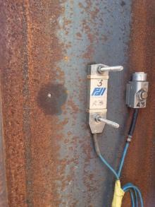 Sensores (extensômetro e acelerômetro) utilizados no ensaio
