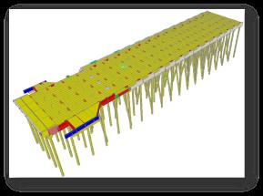 Modelo computacional em elementos finitos da estrutura