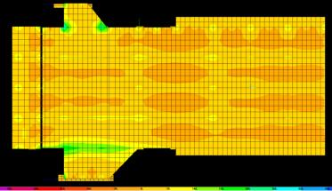Resultados do modelo computacional - Esforços nas lajes