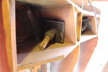 Sistema de ancoragem rotulado das barras Dywidag