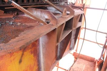 Ancoragem do sistema de reforço com barras dywidag