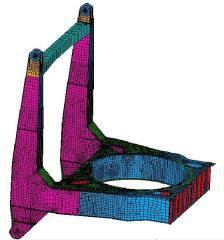 Modelo de elementos finitos da estrtura original