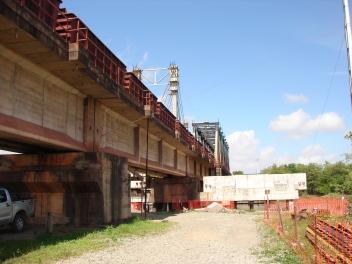 trecho com vãos em concreto protendido