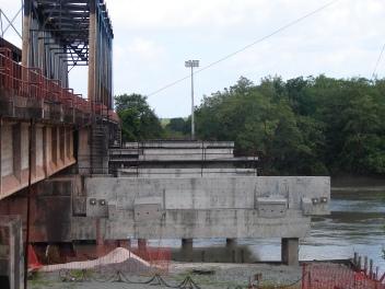 Apoios temporários de concreto