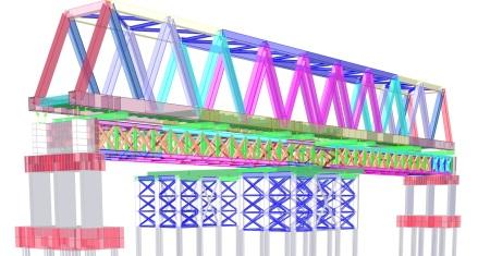 Validação do modelo da estrutura de substituição da ponte sobre o Rio Mearim