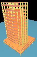 modelo de edificio de múltiplos andares