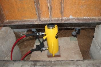 Cilindro hidráulico para aplicação de carga na estaca