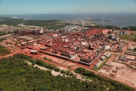 Vista geral da fábrica da Hydro-Alunorte