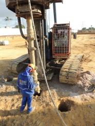 escavação do solo
