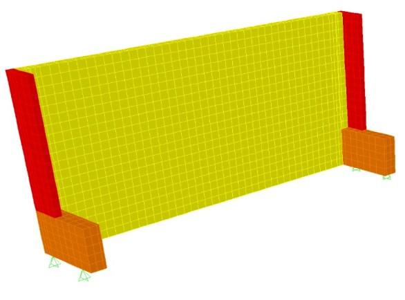 Muro de arrimo - modelo simplificado