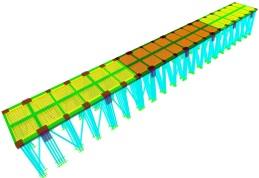 Modelo computacional da estrutura em Elementos Finitos